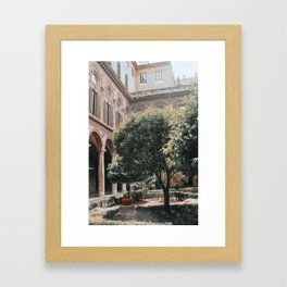 Orange Picking Framed Art Print