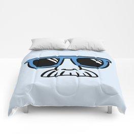 Too Cool (blue cyan) Comforters