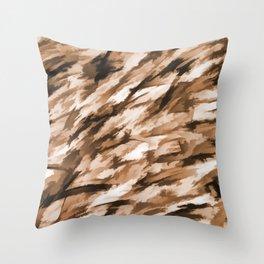 Beige Designer Camo Throw Pillow