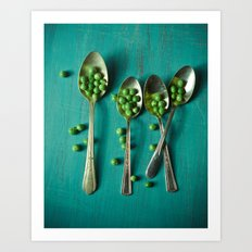 Peas Please Art Print