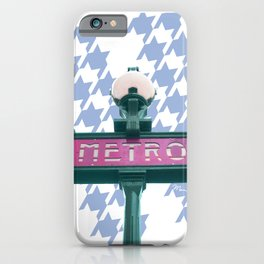 Paris Metro-poule in blue iPhone Case