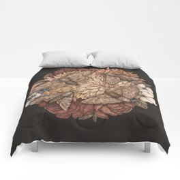 Flowers and Moths Comforters