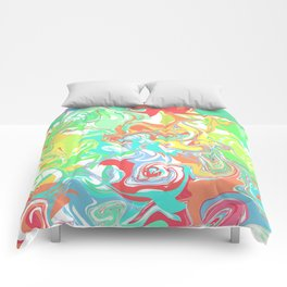 Colorful melt Comforters