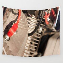 Motorbike engine Wall Tapestry