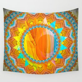 Moon and Sun Mandala Design Wall Tapestry