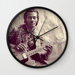 Chuck Berry, Music Legend Wall Clock