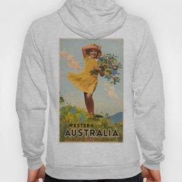 Western Australia vintage travel ad Hoody