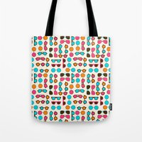 sunglasses Tote Bags featuring Sunglasses by Valendji