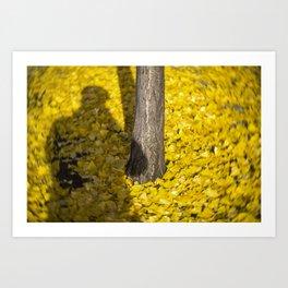Yelw shdow Art Print