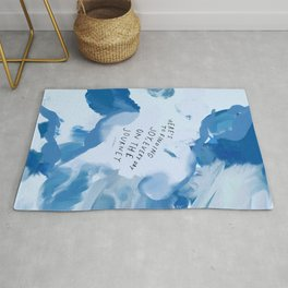 """""""Here's To Finding Joy, Every Day On The Journey"""" Rug"""