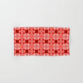 Red Pattern Hand & Bath Towel