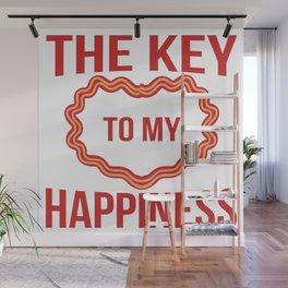 Keto Love Saying Ketogen Keton Bacon Heart Gift Wall Mural