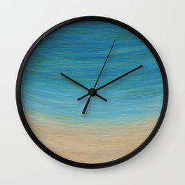 Seas The Day beach painting Wall Clock