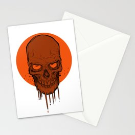 Skull in Red Stationery Cards