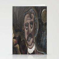 edgar allen poe Stationery Cards featuring Edgar Allen Poe by Maurissa Vigil
