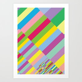 Stairs to Office  [COLORS] [COLOR] [COLORFUL]  Art Print