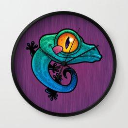 Colorful Gecko Wall Clock