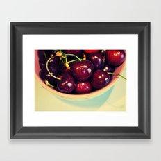 Cherry Blues II Framed Art Print