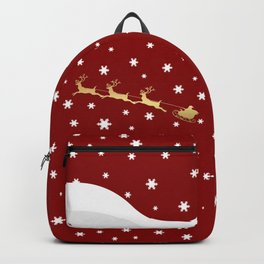 Red Christmas Santa Claus Backpack