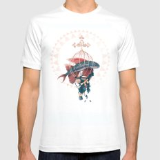 FlyFish LARGE Mens Fitted Tee White