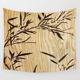 Japanese bamboo buddha wood art Wall Tapestry