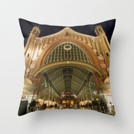 Colon Market of Valencia Throw Pillow