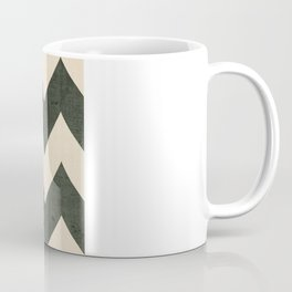 Vintage Vinyl - Black Chevron  Coffee Mug