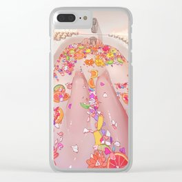 Flower Bath 7 Clear iPhone Case