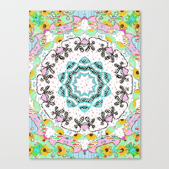 eclectic summer prints Canvas Print