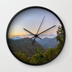 Sleepy valley town Wall Clock