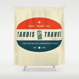 Tardis Travel - Fantasy Travel Logo Shower Curtain