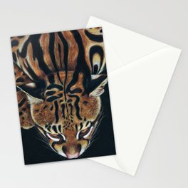 Ocelot Colored Pencil Drawing Art Stationery Cards
