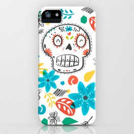Summer sugar skulls iPhone Case
