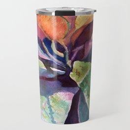 Colorful Tropical Leaves 3 Travel Mug