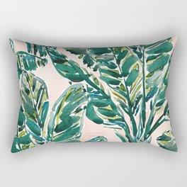 BIG FEELINGS Banana Leaf Tropical Rectangular Pillow