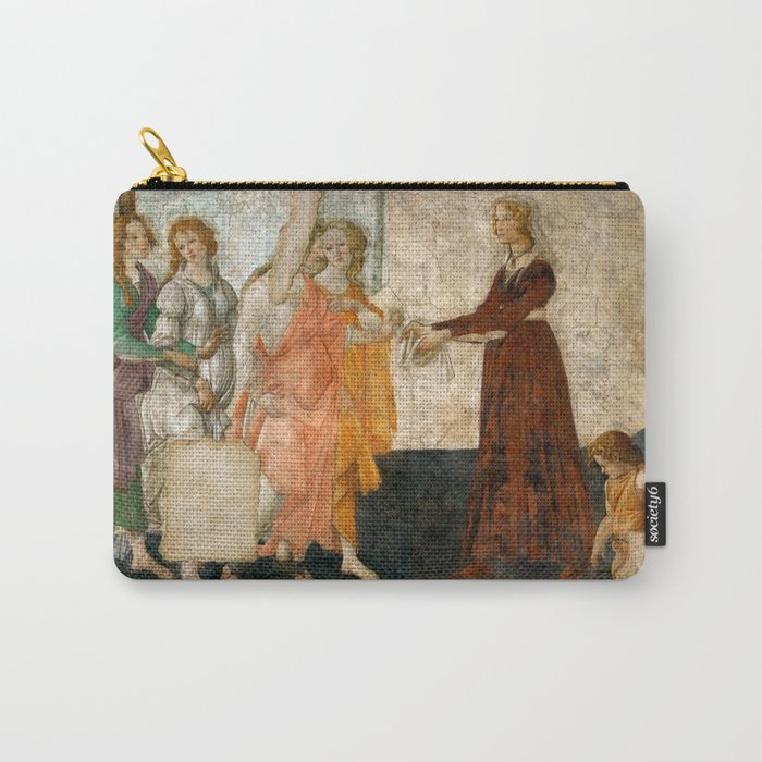 "Sandro Botticelli ""Venus and the Three Graces Presenting Gifts to a Young Woman"" Carry-All Pouch"