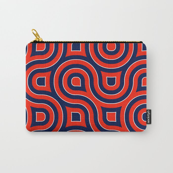 Red Deep blue spirale Carry-All Pouch