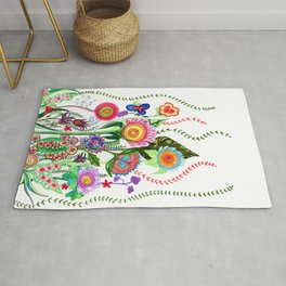 FLOWERS IN MEXICO Rug