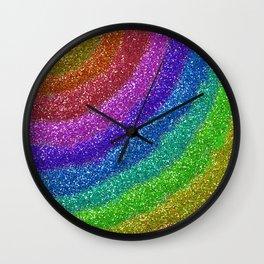 Rainbow Glitters Wall Clock