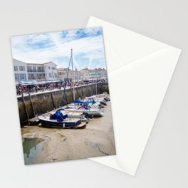 View on the harbor of Saint-Martin-de-Ré Stationery Cards