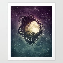 Clockwork Moon Art Print