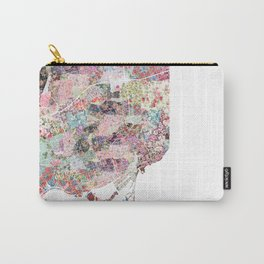 Toronto map flowers Carry-All Pouch
