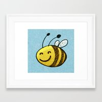 bee Framed Art Prints featuring Bee by MaComiX