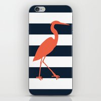 crane iPhone & iPod Skins featuring Crane by Gathered Nest Designs
