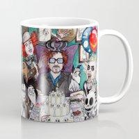 tim shumate Mugs featuring TIM BURTON TEA PARTY by ●•VINCE•●