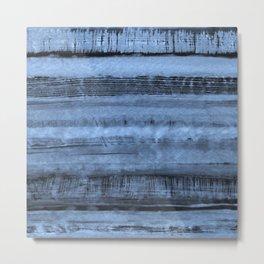 Expressive Inverted Watercolor Stripe Metal Print