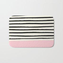Millennial Pink x Stripes Bath Mat