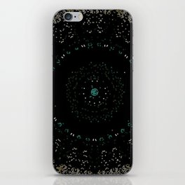 Pixel Dust Black Mandala iPhone Skin