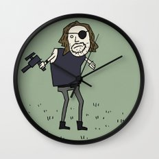 Sad Snake Plissken In A Field Wall Clock