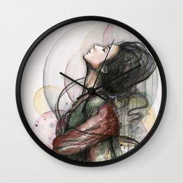 Beauty Illustration Beautiful Woman Feminine Portrait Wall Clock